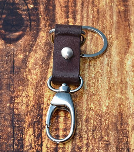 Leather Key Fob // Brown Keychain - Leather Keychain - Leather Key Holder - Mens Keychain - Leather Key Ring - Leather Key Chain