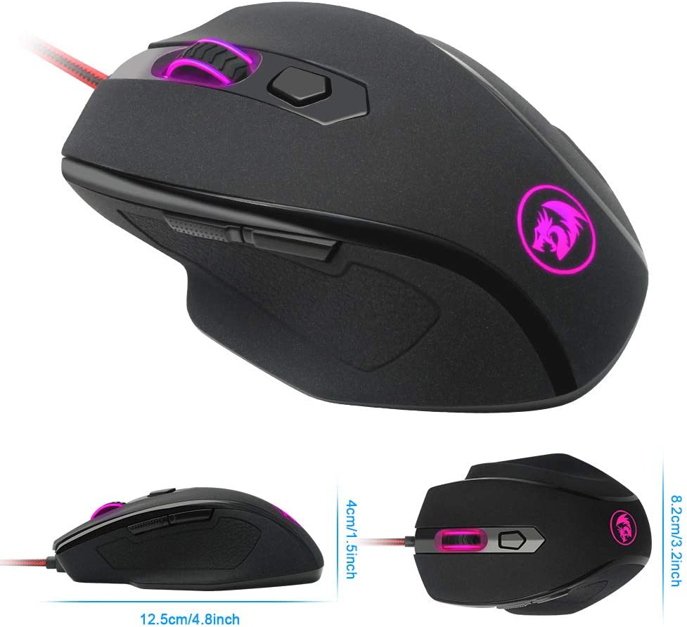 10000DPI4 File Adjustment Games Custom Buttons BAIYI Gaming Mouse 7 Buttons Suitable for Work Ergonomics
