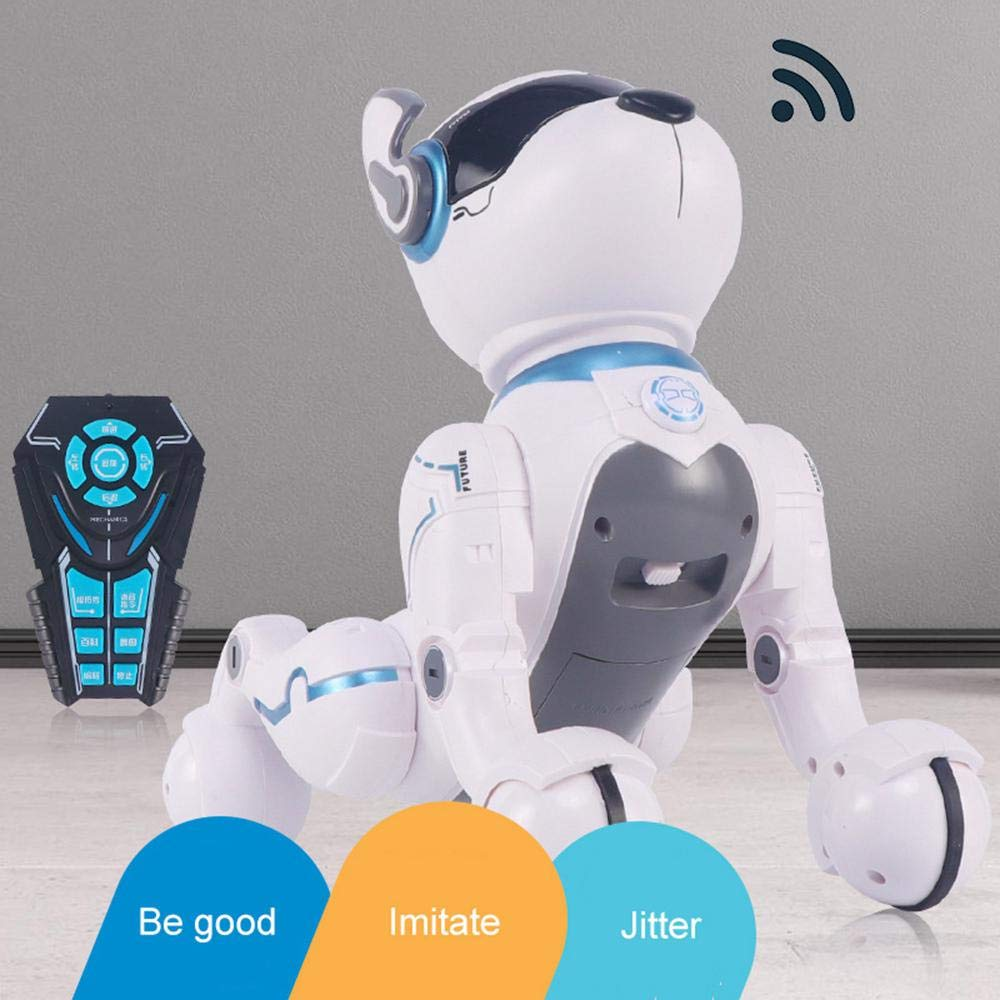 Goglor Smart Talking Robot Dogs, RC Wireless Remote Voice Control Intelligent Toys - Electronic Interactive Pet Puppy Robot Dog for Kids|Educational Sing/Dance/Walk/Study Multi Mode - USB Charging by Goglor (Image #2)
