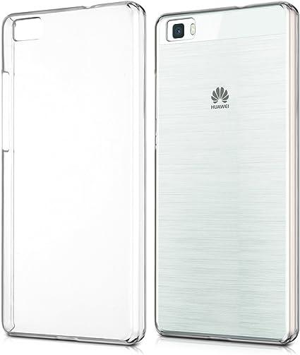 kwmobile Cover Compatibile con Huawei P8 Lite (2015) - Custodia Rigida Trasparente per Cellulare - Back Cover Cristallo in plastica - Trasparente