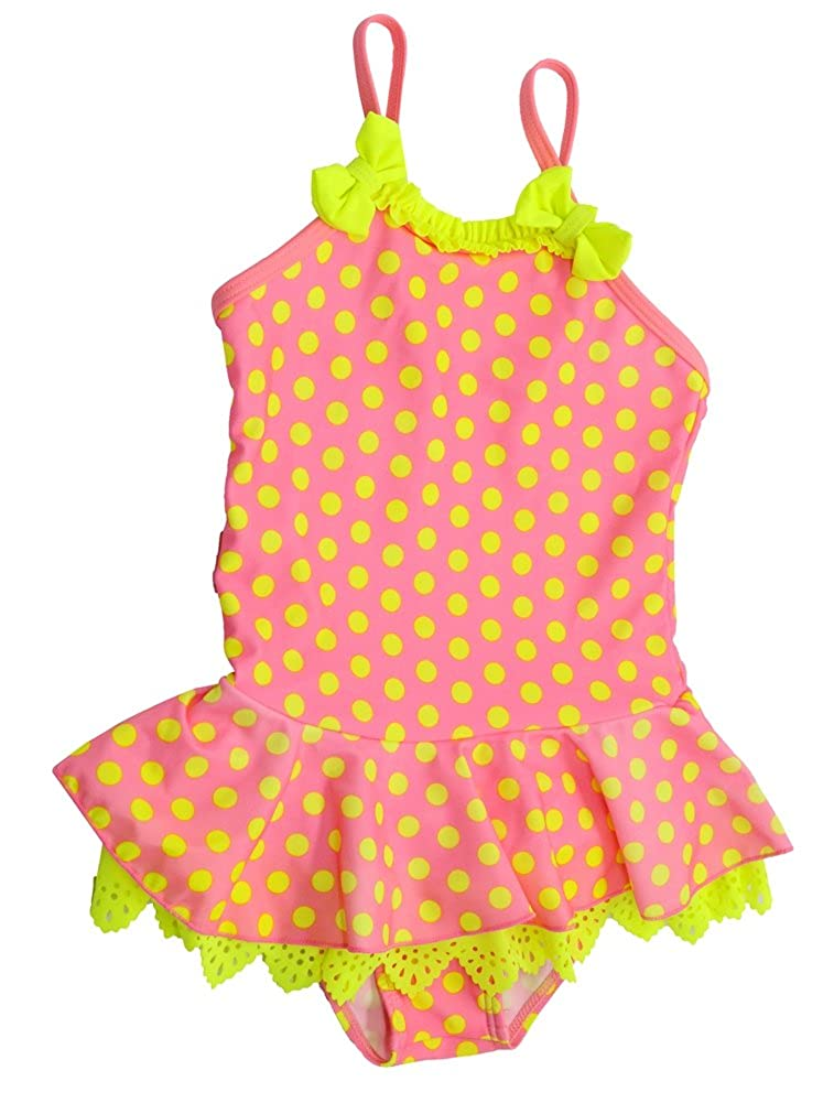 WEONEDREAM Girls One Piece Swimsuit Polka Dot Peplum Bathing Suit