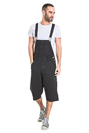8f08007aa0 Image Unavailable. Image not available for. Color: USKEES Mens Bib Overall  Shorts - Black Fashion Dungaree Shorts