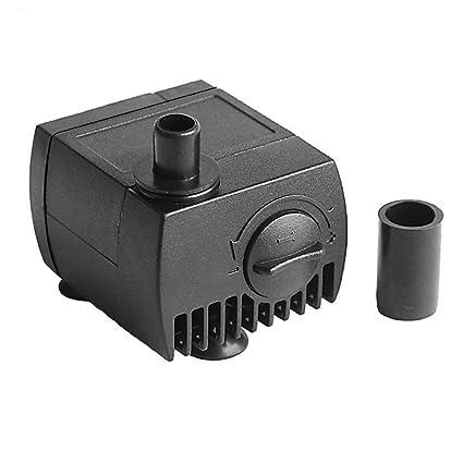 CHENGAIEU Mini Micro Bomba de Agua Sumergible Bomba de Pecera Acuario Jardín Fuente 4W AC 220V
