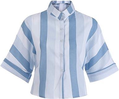 Tosonse Camiseta para Mujer con Cuello En V Tops De Trabajo ...