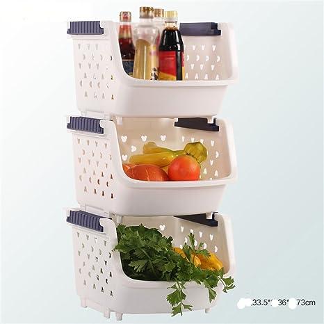 AIDELAI Scaffalature Mensole da Cucina Frutta Verdura Cucina ripiano ...