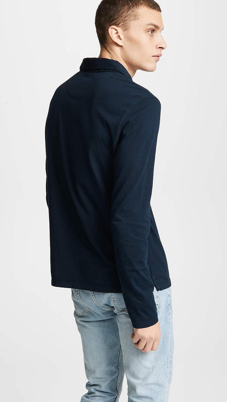 Vince Mens Garment Dyed Long Sleeve Polo Shirt