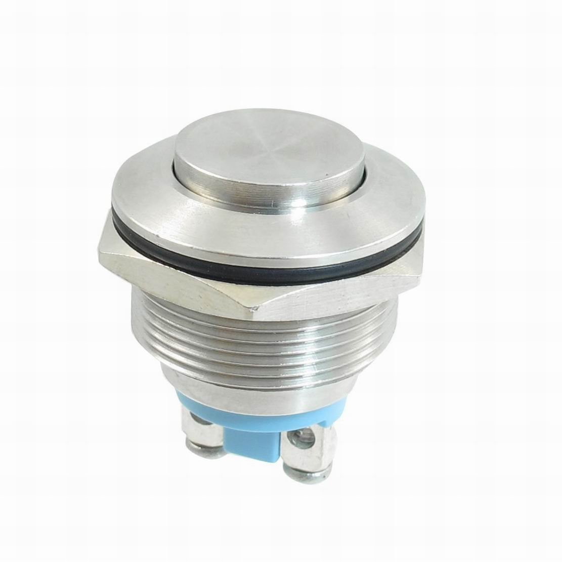 Ugtell Stainless Steel Momentary Push Button Switch 22mm Flush Mount SPST