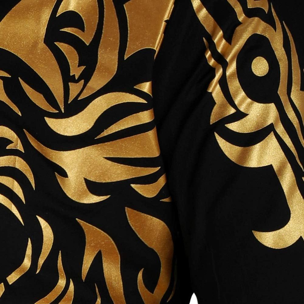 CNSTORE Dragon Print Plaid Patchwork Slim Fit Longsleeve Shirt