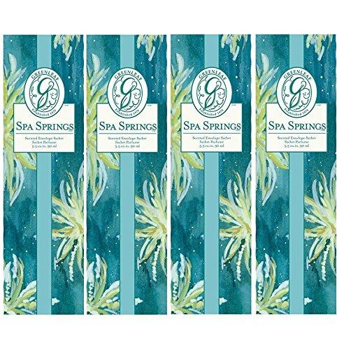 Greenleaf Slim Scented Envelope Sachet Set of 4 - Spa Springs by Greenleaf