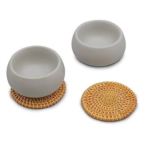 ZENS Lifestyle Ceramic Cups Set Of 2, For Sauce Dessert Ice Cream Snacks,  Table