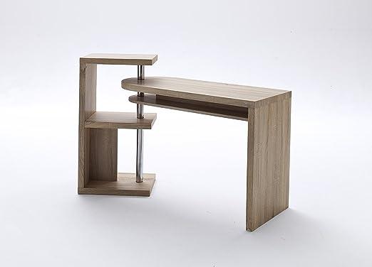 Escritorio 145 cm, madera de roble sonoma con decoración en con ...