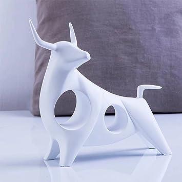 WYQLZ Harz Weiß Vieh Skulptur Dekoration Geschenk Kreativ Modern Einfach  Persönlichkeit Mode Upscale Artwork Handwerk Einrichtung