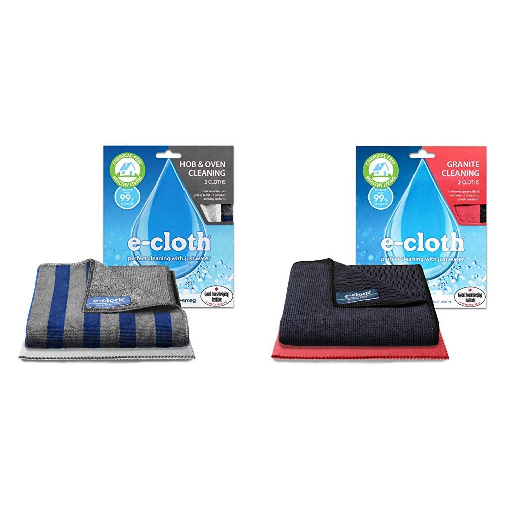 E-Cloth Hob /& Oven Cleaning 2 cloths /& Dusters 2 cloths