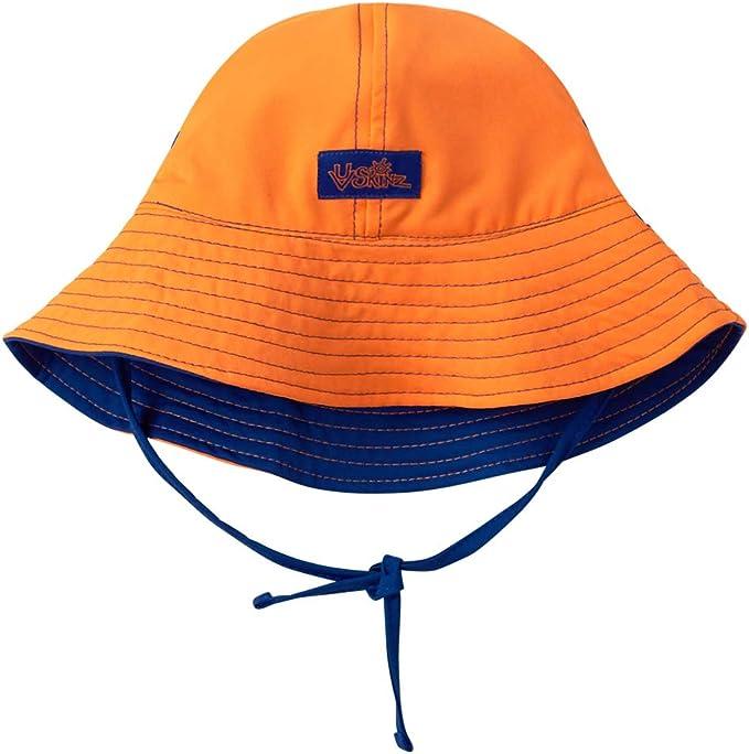5-9 Years Old Dozer Boys Bucket Echo Green Reversible Beach Sun Hat UPF 50