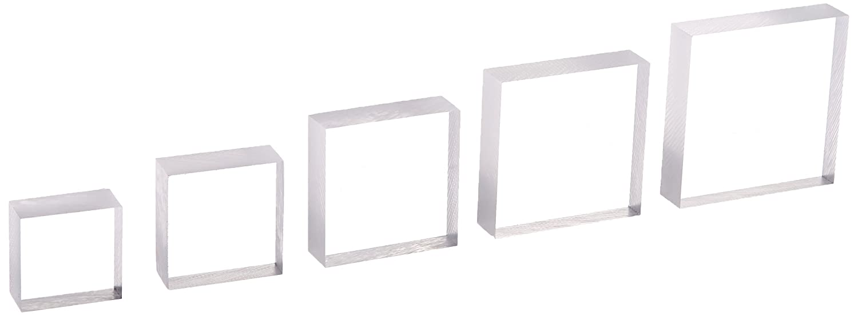 Amazon.com: Sunday Int AH08 Krystal Acrylic Block Set Of 5: Arts ...