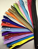 WKXFJJWZC 50pcs mix Nylon Coil Zippers Tailor Sewer Craft (16 Inch) Crafter's &FGDQRS ( 20/color)