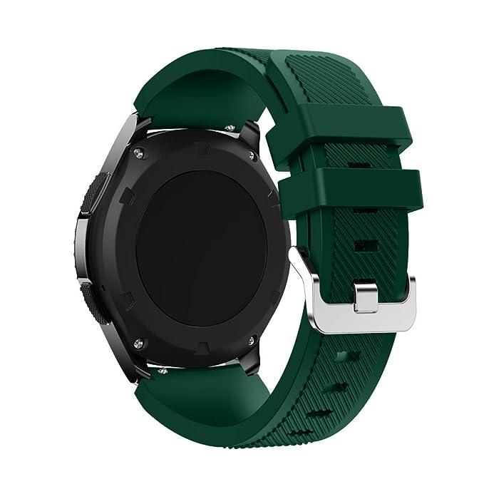 Correa de Silicona Samsung Gear S3 Frontier de Nueva Banda de Pulsera de silicón Brazalete Deportes Strap de Moda para la Frontera: Amazon.es: Relojes