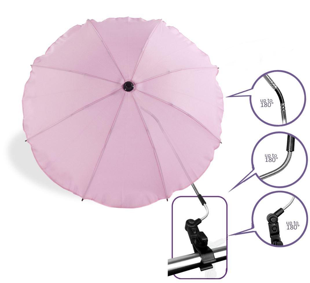 Baby Pram Pushchair Sun Parasol / Universal Umbrella Shade Canopy (Light Pink) Baby Comfort