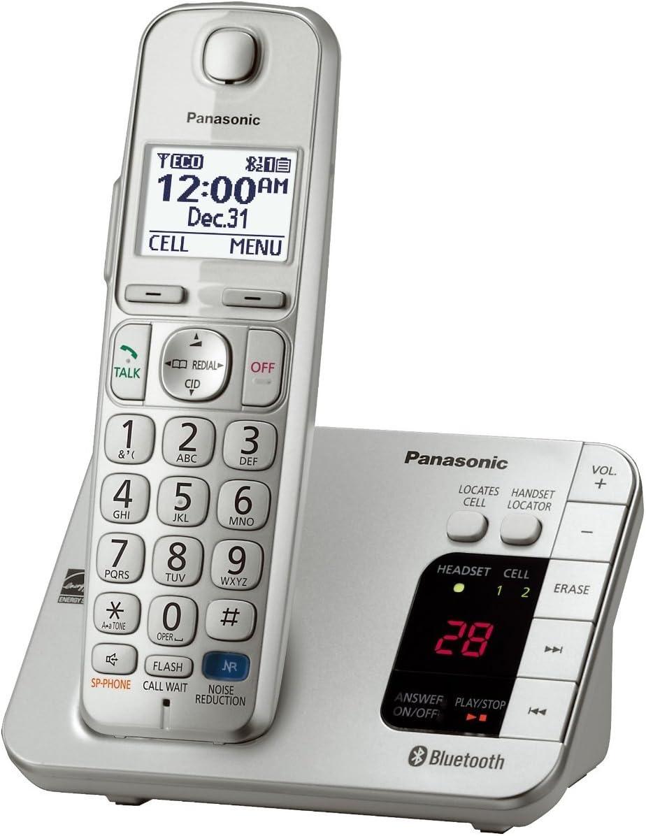 Panasonic kx-tge260s link2cell 1 auricular con Bluetooth teléfono inalámbrico con contestador automático, color plateado (Certificado Reformado) – KX-TGE262S & kx-tge263s Base-station: Amazon.es: Electrónica