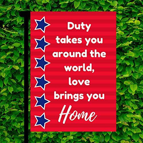 Military Garden Flag- Patriotic Garden Flag- Patriotic Decor- Military Decor- Military Homecoming- Military Homecoming Sign, 12