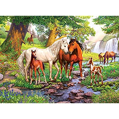 Ravensburger 12904 Horses by The Stream 300 Piece Puzzle for Kids - Every Piece is Unique, Pieces Fit Together Perfectly: Toys & Games