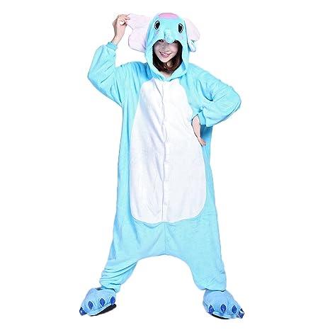 Ferrand Kigurumi Pijamas Unisexo Adulto Traje Disfraz Animal Adulto Animal Pyjamas Elefante Con Zapatillas