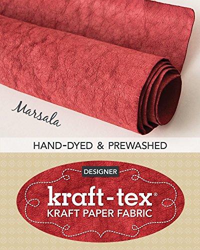 kraft-tex Marsala Hand-Dyed & Prewashed: Kraft Paper Fabric, 18.5