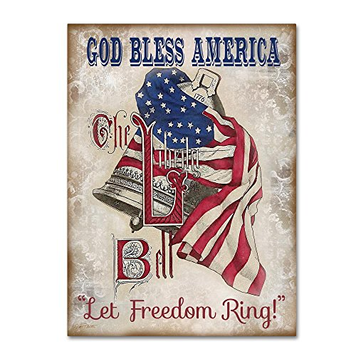 Retro Patriotic 1 by Jean Plout, 24x32-Inch Canvas Wall Art