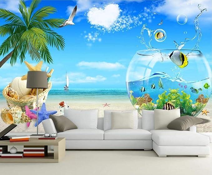 Mural de pared 3D con diseño de pecera, para sala de estar, sofá, TV, pared o dormitorio: Amazon.es: Bricolaje y herramientas