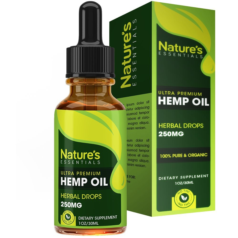 Hemp Oil Drops :: 100% Hemp Seed Extract :: All Natural Dietary Supplement, Rich in Omega 3 & 6 Fatty Acids for Skin & Heart Health :: 1 Fl. Oz. by Nature's Essentials