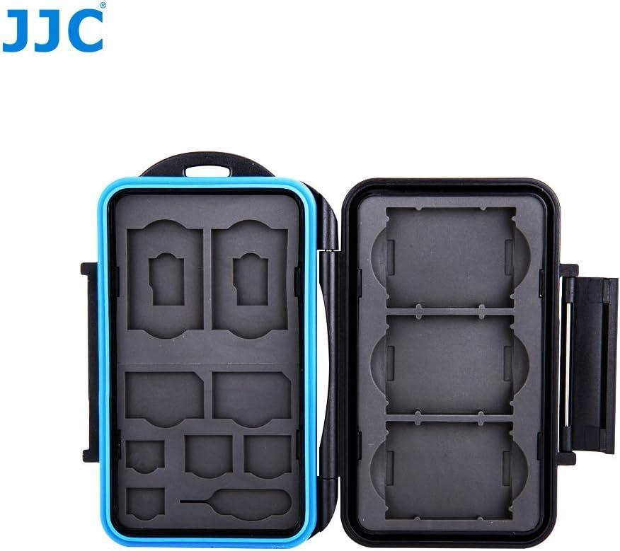 2 MSD 2 Nano SIM Cards Storage 2 SIM 2 SD 2 Micro SIM JJC MC-STMQ13 Professional Water-Resistant Cellphone SIM Card /& Memory Card Case Protector for 3 XQD