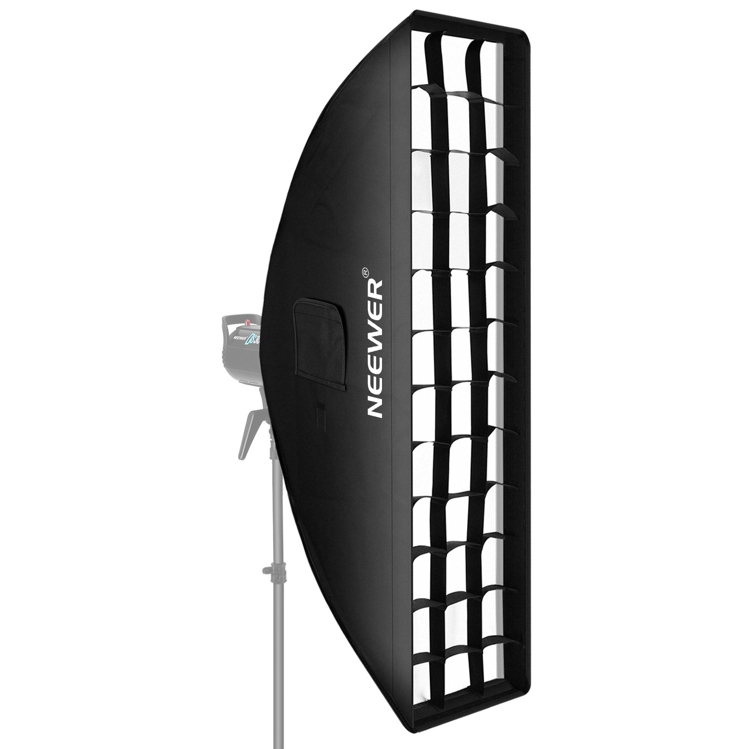 Neewer 14 x 63 inches/35 x 160 centimeters Honeycomb Grid Softbox with Bowens Mount Speedring for Speedlite Studio Flash Monolight, Portrait and Product Photography
