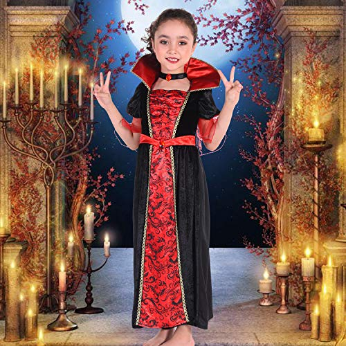 CO-AVE Vampire Dress for Girls Halloween Gothic Victorian Vampiress Queen Costumes 4T 6T 8T
