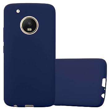 Cadorabo Funda para Motorola Moto G5 Plus en Candy Azul Oscuro – Cubierta Proteccíon de Silicona TPU Delgada e Flexible con Antichoque – Gel Case ...