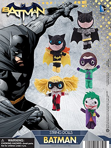 DC Comics Batman String dolls Set of 8 ( Batman, Robin, Catwoman, Riddler, Harley Quinn and (The Riddler Girl Costume)