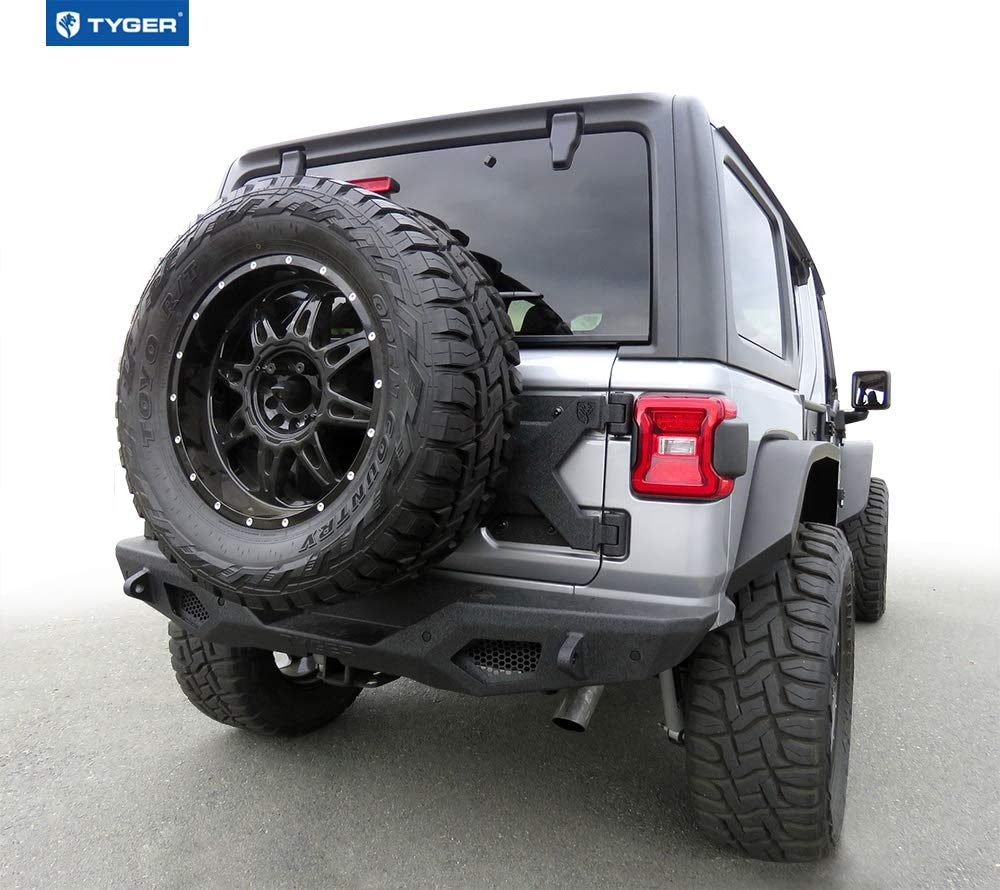 Textured Black Fits up to 37inch Spare Tire Tyger Auto TG-TR8J84078 Oversize Tire Carrier Kit Compatible with 2007-2018 Jeep Wrangler JK Not for JL