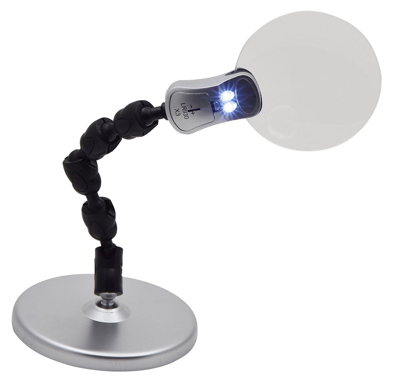 Digiphot x Soporte Reflector Lupa 2.5/6 x Reflector Soporte LED (Negro) abb9ce