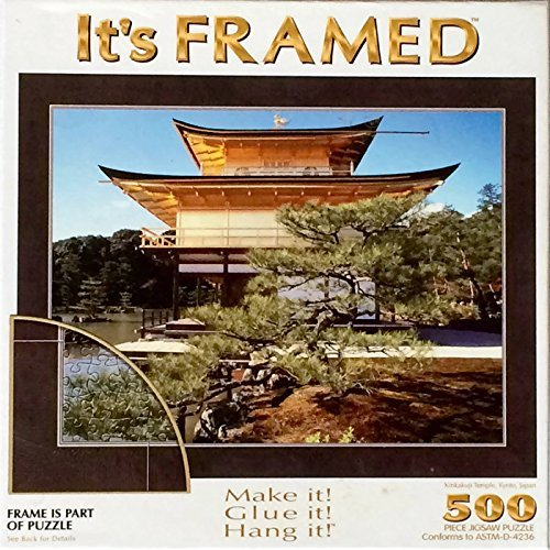 Its Framed 500 Piece Puzzle - Kinkakuji Temple, Kyoto Japan