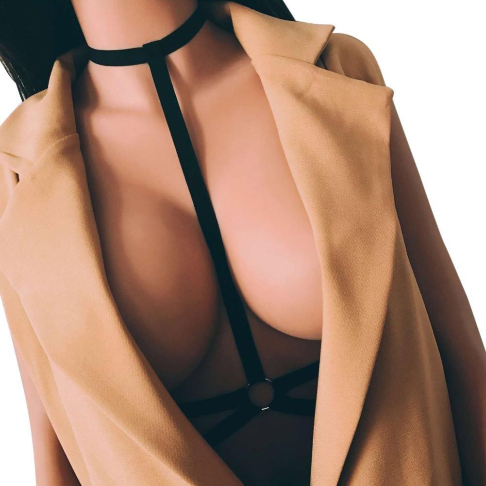 Harness Damen BH, Body Brust Harness Büstenhalter Elastischer Käfig BH Cage Bra,13 Arten von Stil Bandage Strappy BH KEERADS-Harness BH-001