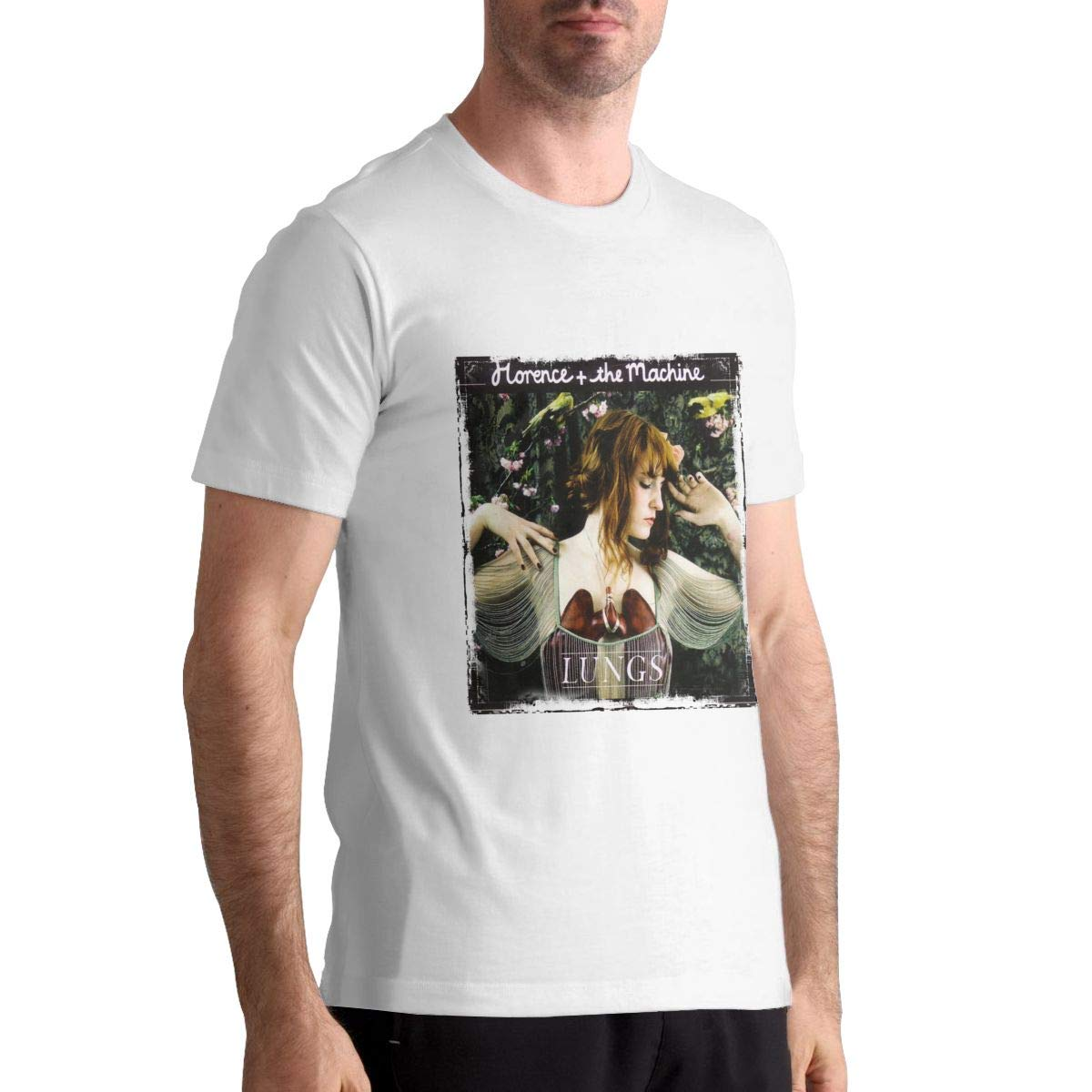 DANIEL BURTON Soft Fit Florence and The Machine Mens Black Shirts Top Tees Short Sleeve Shirts