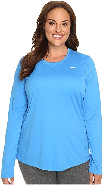 césped borracho ocio  Amazon.com : Nike Women's Miler Long-Sleeve Running Top (Size 1X-3X), Light  Photo Blue, 1X : Clothing
