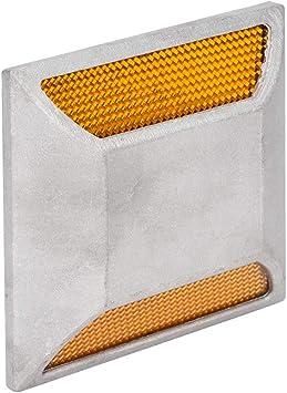 Riflettore di Emergenza Lampeggiante Accessori di Sicurezza Dioche Riflettore per segnaletica Orizzontale su Strada Riflettore Stradale Riflettore su Alluminio per rettangolo con LED