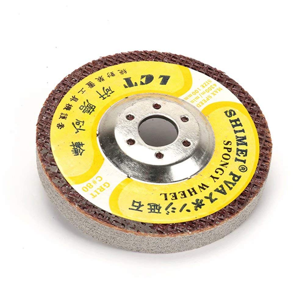 5Pcs 4 Inch 400 Grit Marble Polishing Wheel with 5/8'' Bore Electric Grinder Sanding Disc for Polishing Marble Glass 100mm