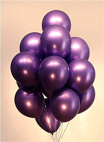 10pc 12inch Thick Metal Latex Balloons Wedding Balloon Birthday Party Decoration