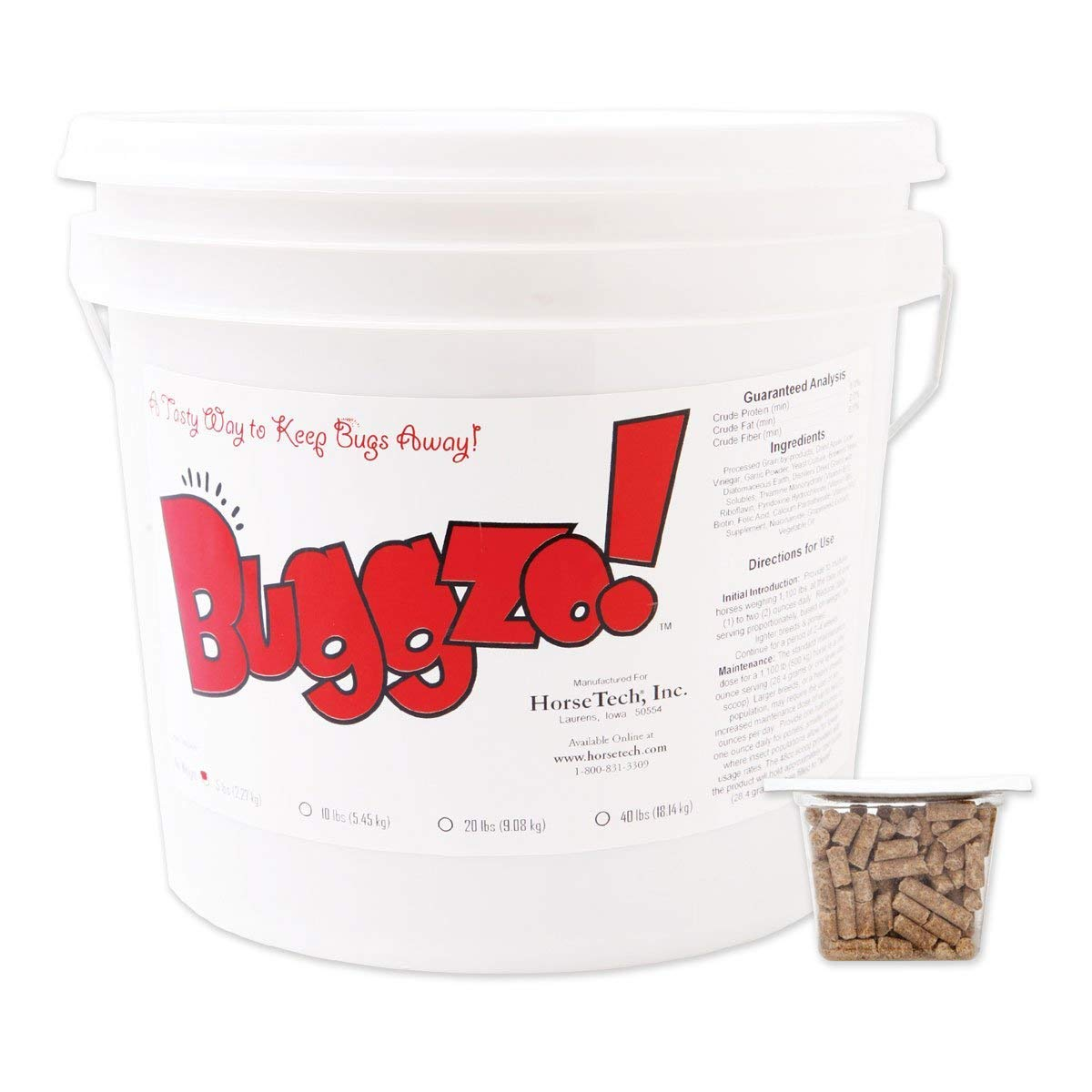 Source4S4 Horse Tech 5Lb Buggzo Bundle+Bonus 15 1/2'' X15'' NaturalTote by Source4S4 (Image #2)