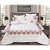 Double Comforter 8Pcs Set By Hours, King Size,Yuki-05