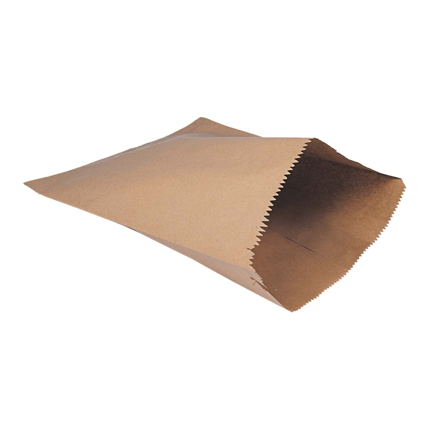 Deli Supplies 500 x Kraft Brown Paper Bags 12' x 12.5' Fruit Sweets Gifts Strung Bag