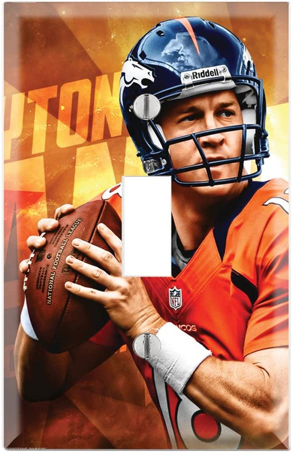 Single Toggle Wall Switch Cover Plate Decor Wallplate - Peyton Manning Broncos