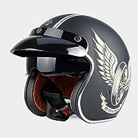 Sunzy Casco de Moto Harley, Casco de Moto