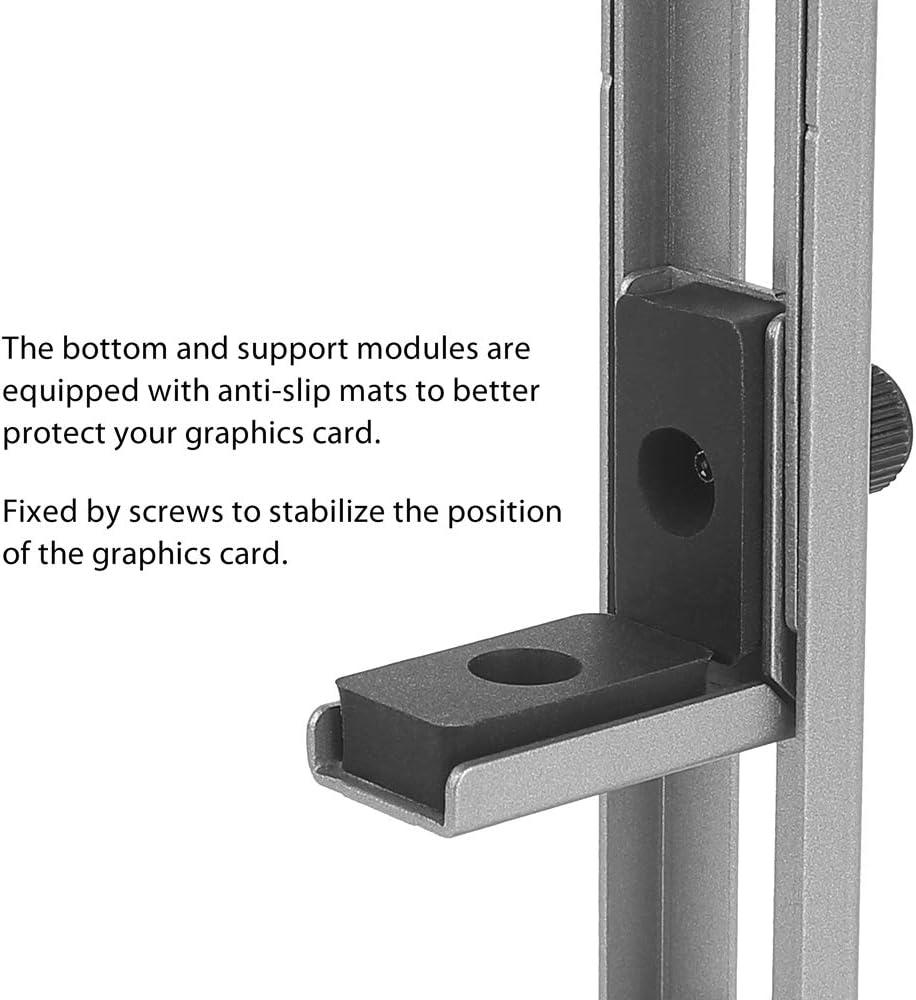 soporte para tarjetas de v/ídeo Soporte para tarjetas gr/áficas de video Antec aluminio anodizado aeroespacial
